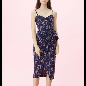 Rebecca Taylor Ivie Fleur Wrap Print Dress 0